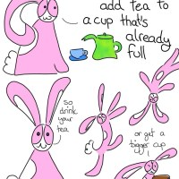 374: Lifestyle Advice From a Small Pink Bunny - full cup