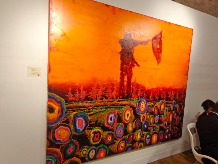 "Armando Marino's ""The Revolutionary,"" 2013 oil/paper Represented by 532 Gallery T. Jaekel, NY."