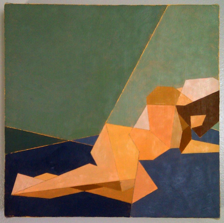 """Reclining Nude IV, Oil on canvas 12""""x12"""""""