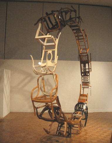 """""""By Themselves And Of Themselves,"""" 2008  Found Wood 192""""h 192""""w 24""""d"""