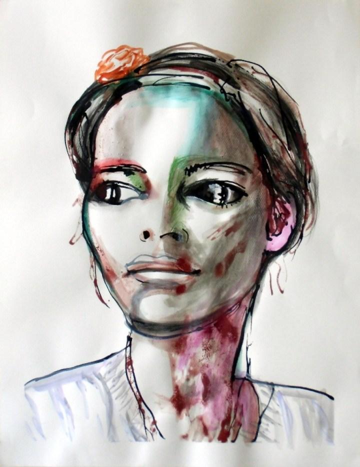 """Self portrait,"" 50 x 65 cm"