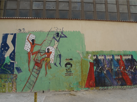 """Marching Women / Women Climbing Ladder"" Alaa Awaad Cairo, 2012"