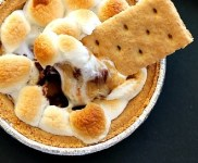 Dark Chocolate Banana S'mores Dip