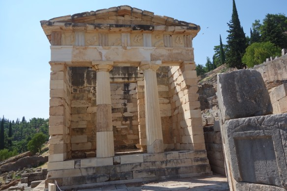Athens' Treasury at Apollo  Temple. Many City States has such Treasurey at Apollo Temple as tribute and were regularly looted by invaders and care takers.
