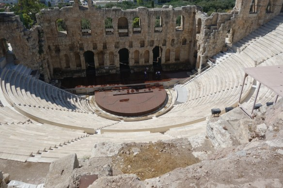 Theater built by Romans and renovated, on side of Acropolis, used for current concerts and events.