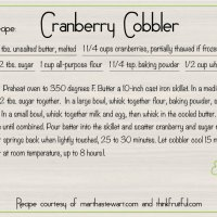 Re-thinking cranberries