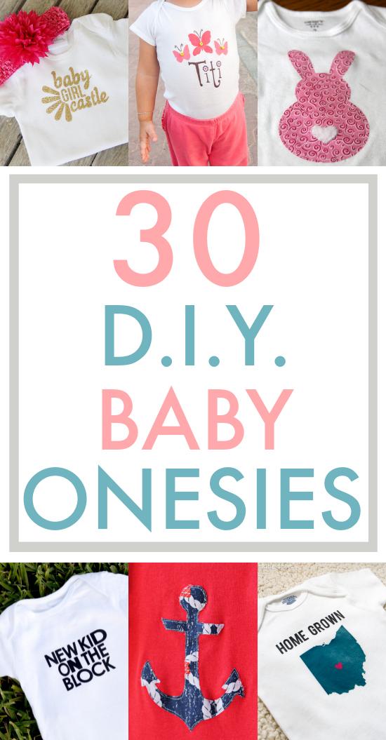 30 DIY Baby Onesies - the thinking closet - onesies designs