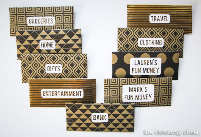 DIY Cash Budget Envelopes Free Printable - the thinking closet - money size envelopes