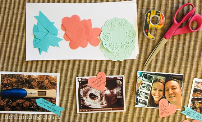 Pregnancy Timeline Photo Banner - the thinking closet - baby milestone timeline
