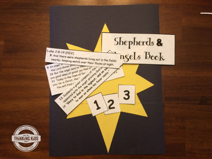 Angels and Shepherds Book Craft - Thinking Kids