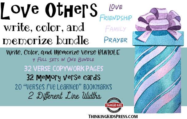 Bible Verses About Friendship Write, Color, and Memorize Set