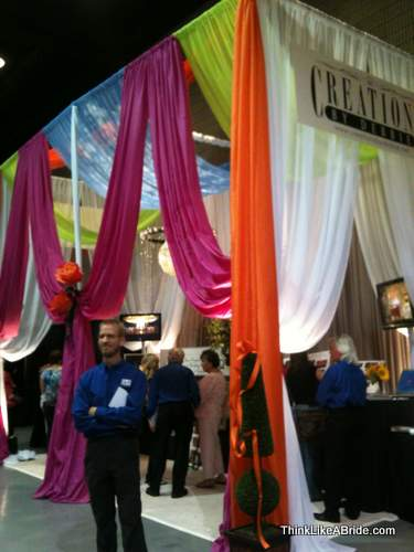 example of a great bridal show booth