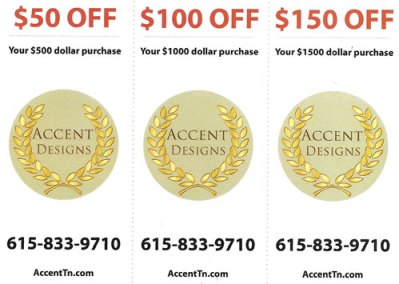 AccentDesigns bridal show coupon