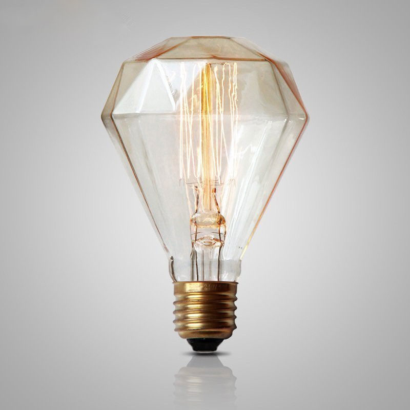 Diamond Edison Bulb Retro Vintage Light Dimmable