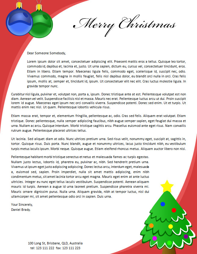 free christmas letter template datariouruguay - christmas letter template word free