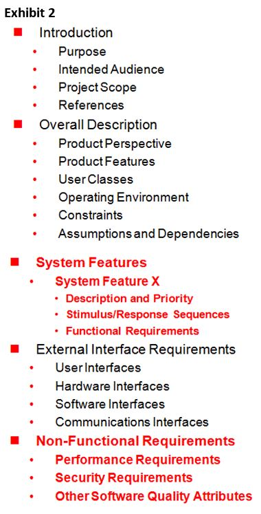 Article How To Define Scope on Software Development Projects - software specification template