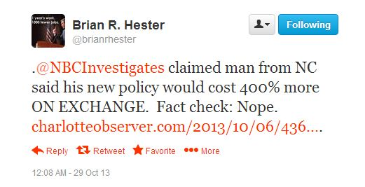 "ODP Deputy Communications Director Brian Hester's ""fact check"""