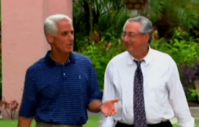 Charlie Crist and his friend Carl Domino