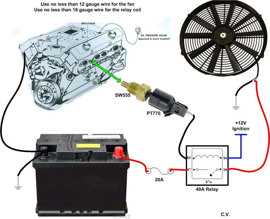 electric fan thermal switch wiring diagram