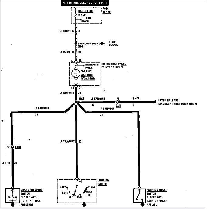 parking brake switch wiring diagram