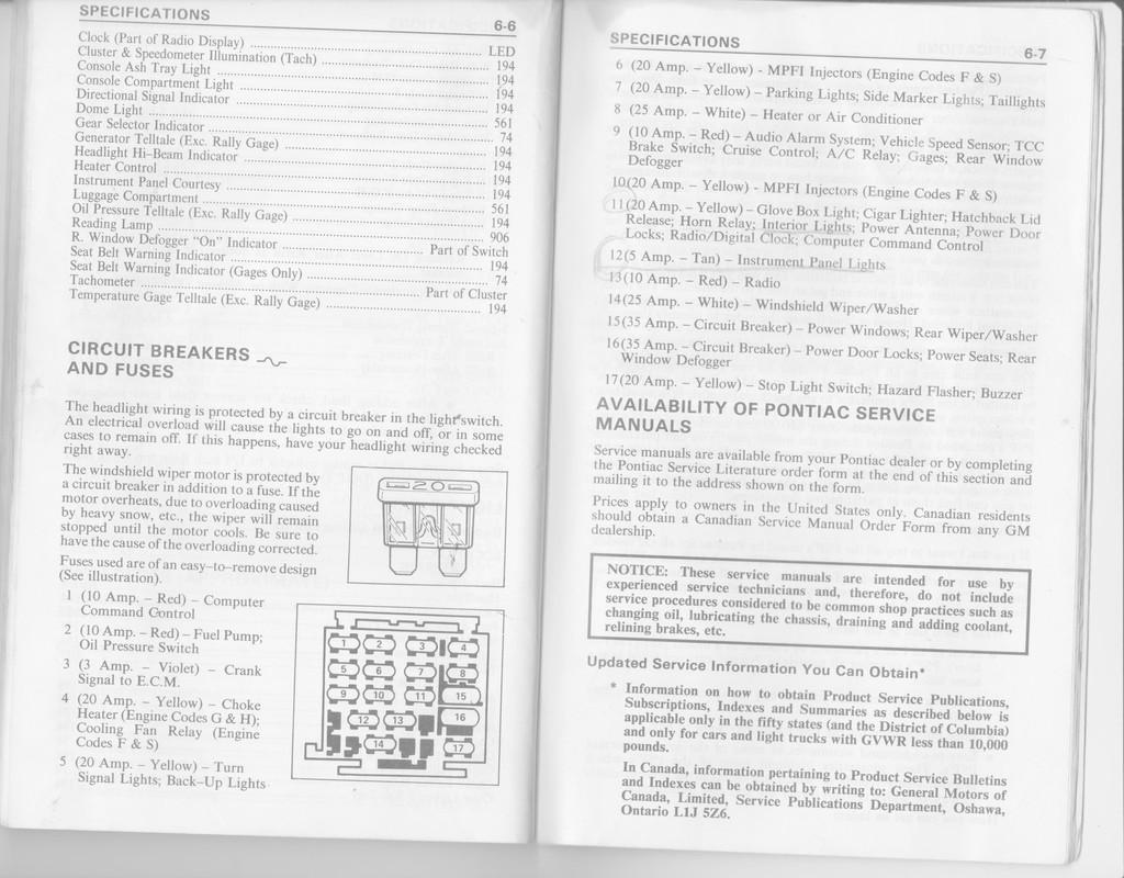 1986 trans am fuse box diagram