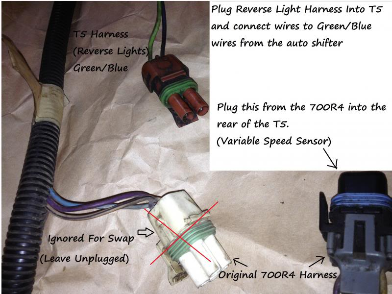 700R4 to T5 Swap Rewiring Simplified with Pics! - Third Generation F
