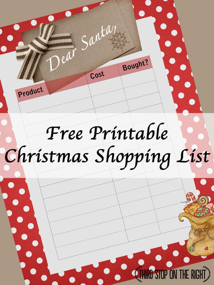 Keep Track of Christmas Shopping with this Free Printable Shopping - shopping lists