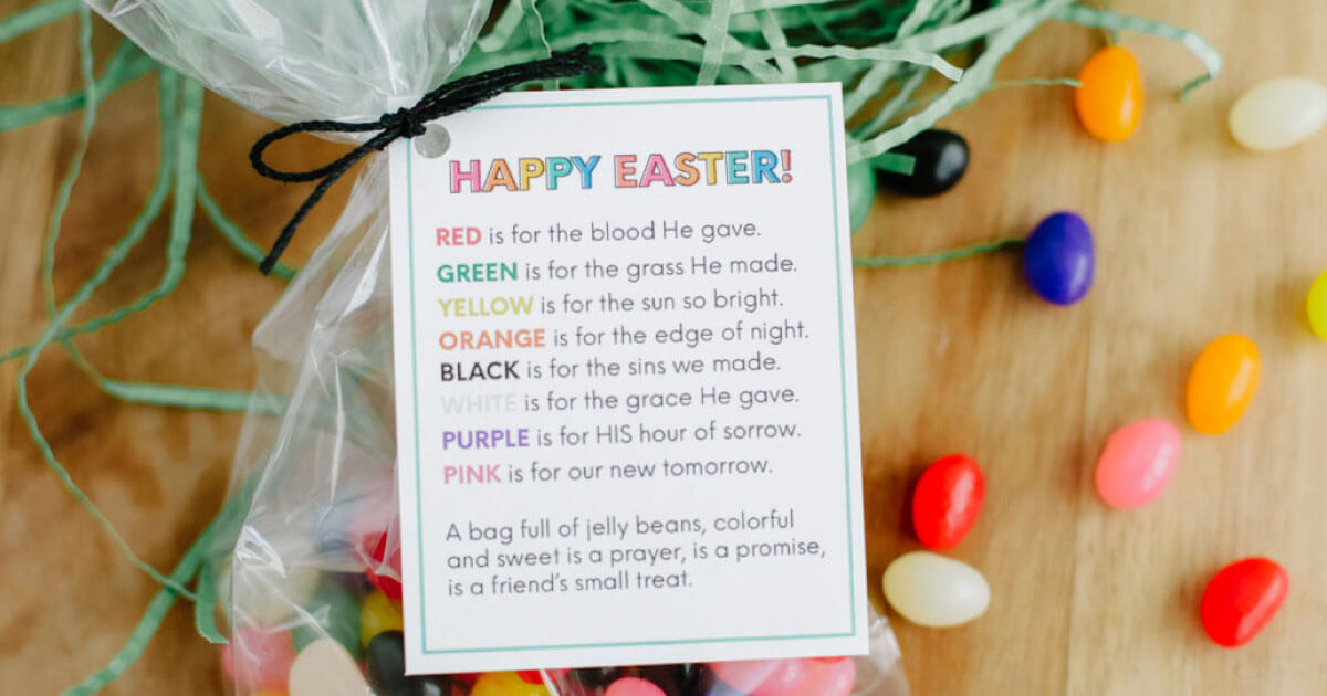 Easter Quotes Jelly Bean Poem Printable from 30daysblog