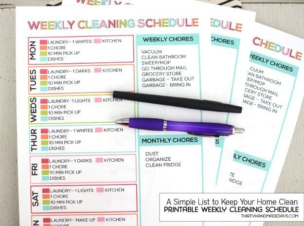 Weekly Checklist For House Cleaning House Cleaning Plan Idea By Deb