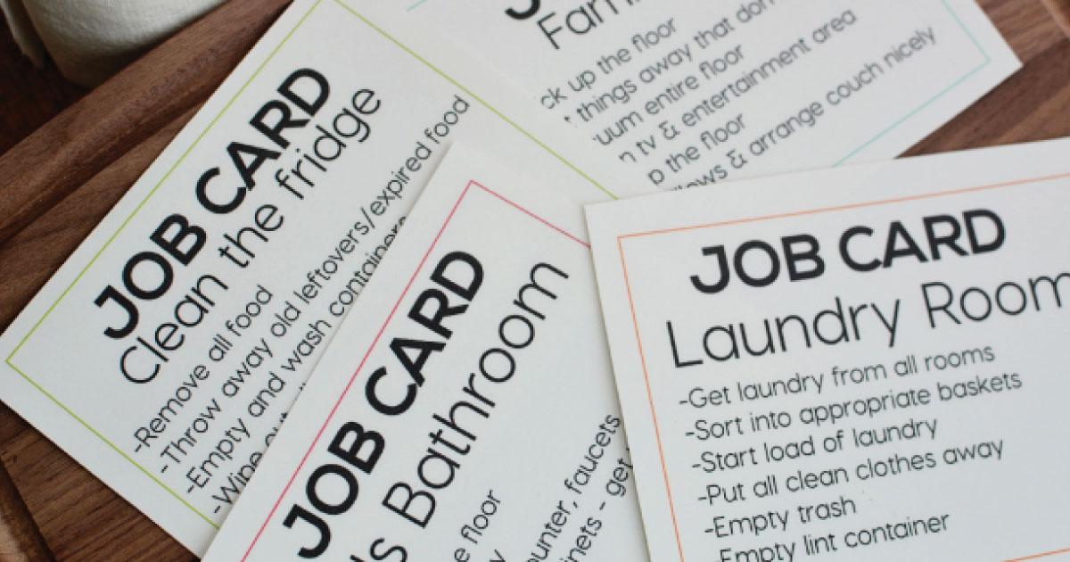 Printable Job Cards
