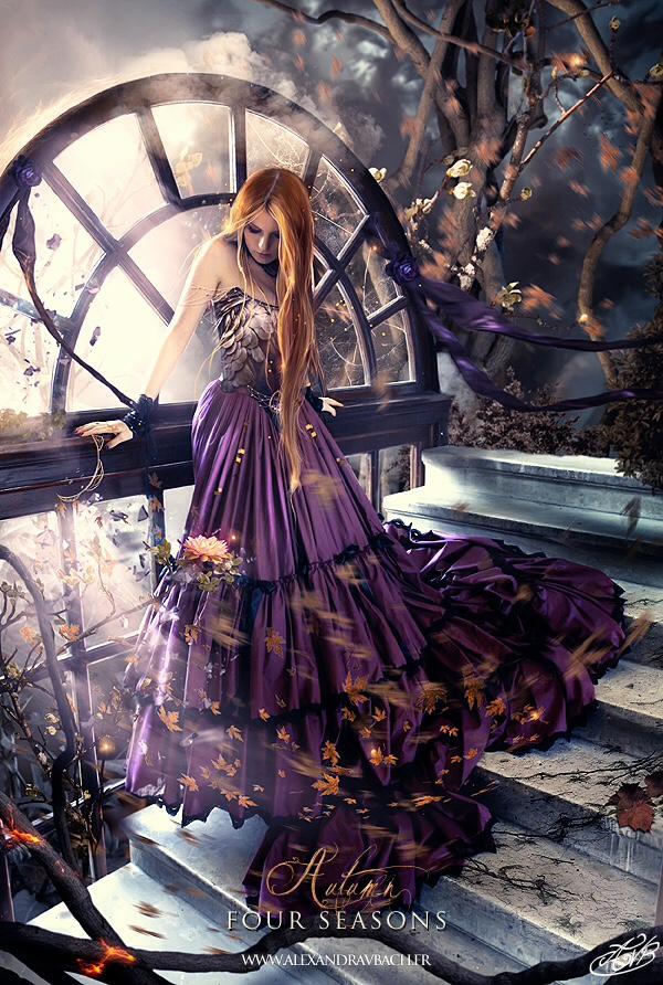 Gothic Fall Wallpaper The Digital Fantasy Art Of Alexandra V Bach Artist