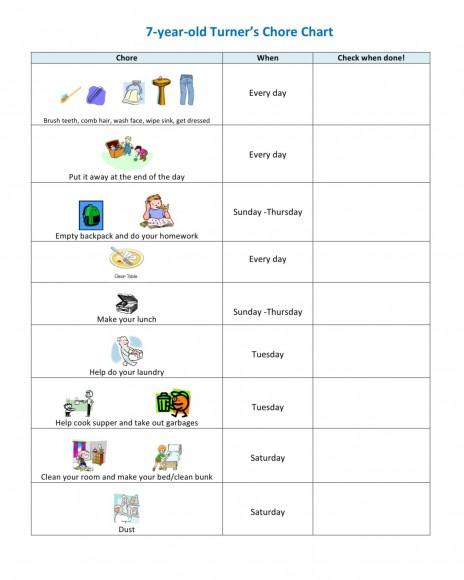 Childrenu0027s Chore Chart Challenge This Birdu0027s Day - sample chore chart
