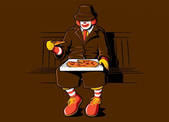 mcdonald-eating-pizza