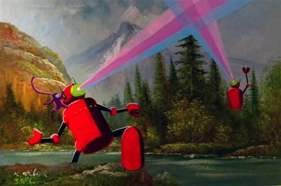 mountains-robots-paint