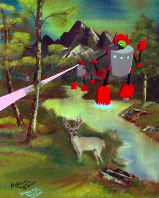 robot-woods-deer-paint