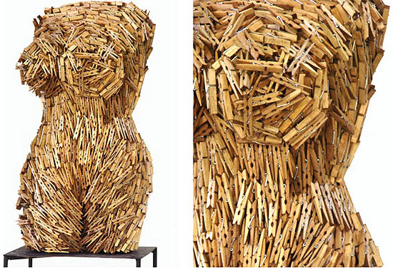 clothes-peg-torso-sculpture