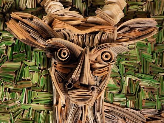 deer-newspaper-sculpture