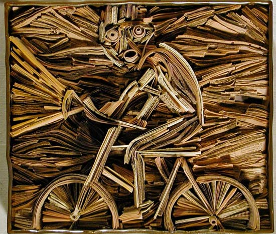 newspaper-art-bike