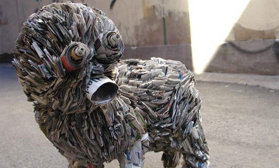 newspaper-sculpture-sreet-art