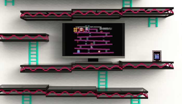 Donkey Kong Inspired Shelving Unit1