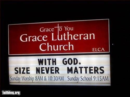 Dirty Church Signs