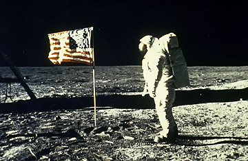 Controversial Points about the Moon Landings and the Waving Flag