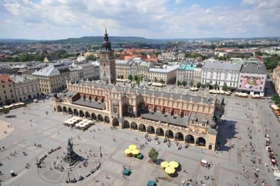 Poland Krakow. Main Market Square