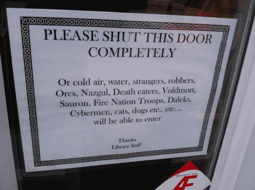 Funny Door Signs