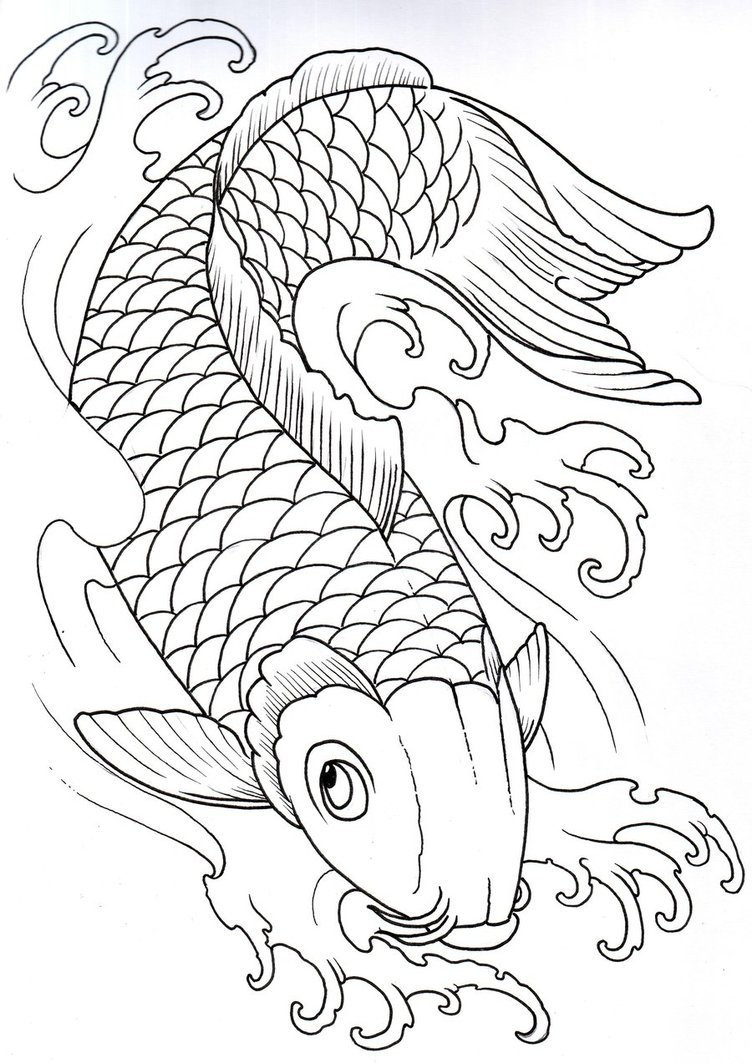Powerful symbols and meanings of celtic viking and for Koi fish stencil
