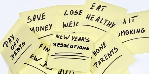 The list of 5 New Year's Eve tidbits includes resolutions, like those presented in the photo.