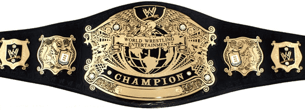 Possibly the most important of the WWE Championship belts, the Undisputed Champion belt is portrayed here.