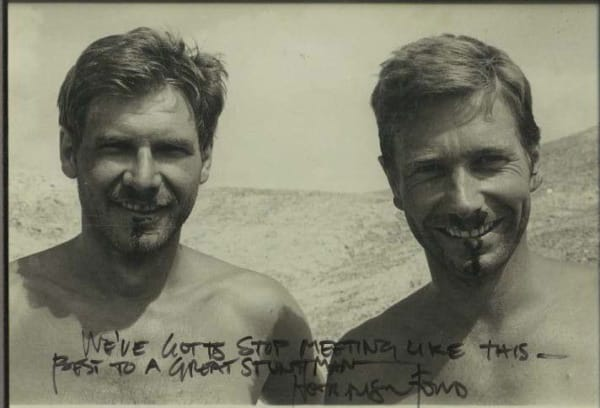 Vic Armstrong helped Harrison Ford achieve a perfect performance in many movies.