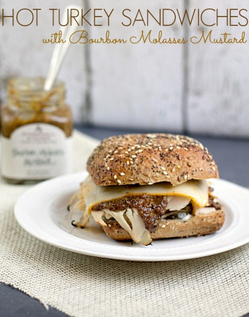 Hot Turkey Sandwiches with Bourbon Molasses Mustard by This Gal Cooks. #hotsandwiches #turkey #bourbonmolassesmustard