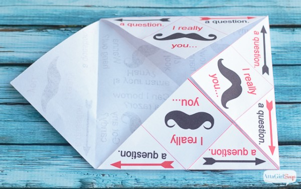 Printable Cootie Catcher Valentines - TGIF - This Grandma is Fun